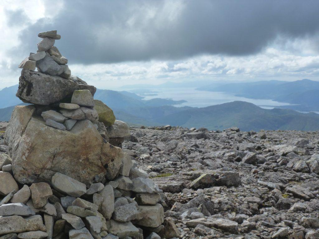 Cairn on top of Ben Nevis