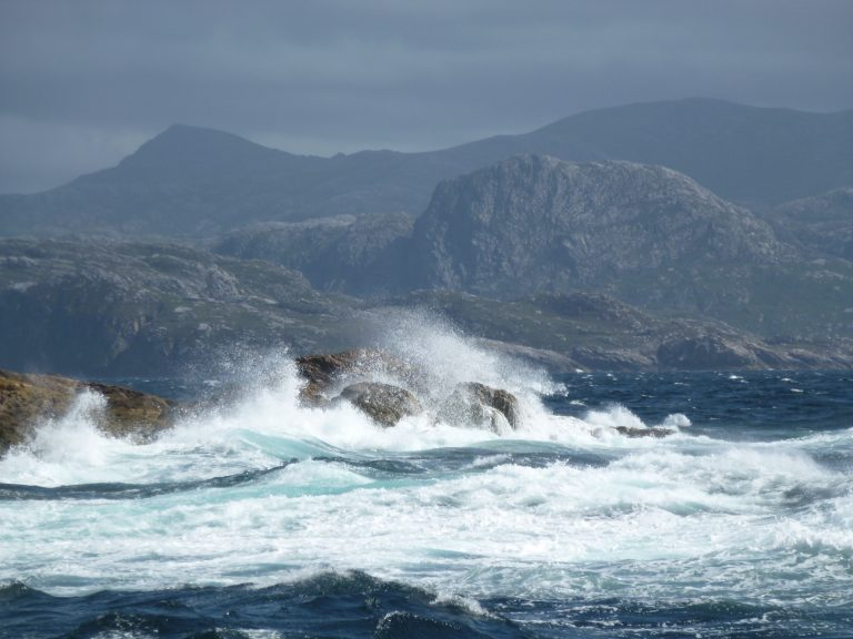 Big waves on Mealista, outer hebrides west coast