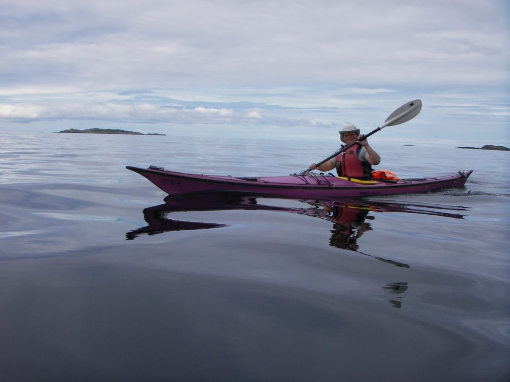 First year Charlotte got this purple kayak named 'Pinky'
