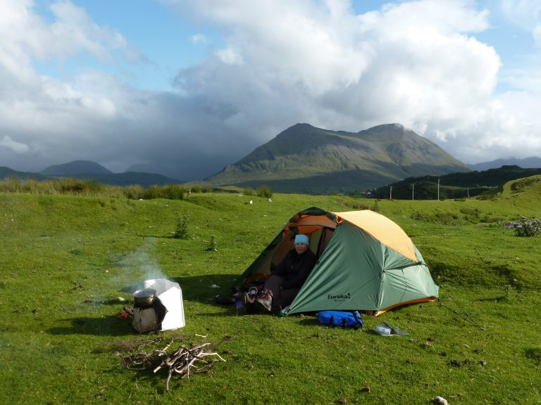 Camping on the Raasay Narrows