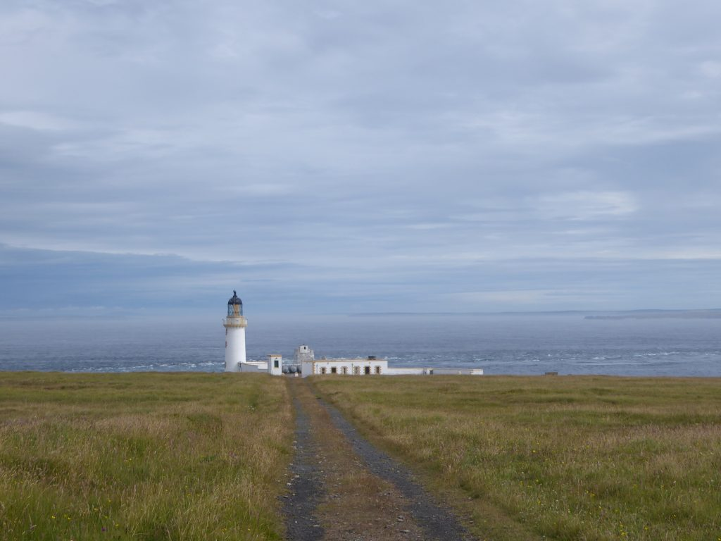 The road to the lighthouse on the abandoned island of Stroma