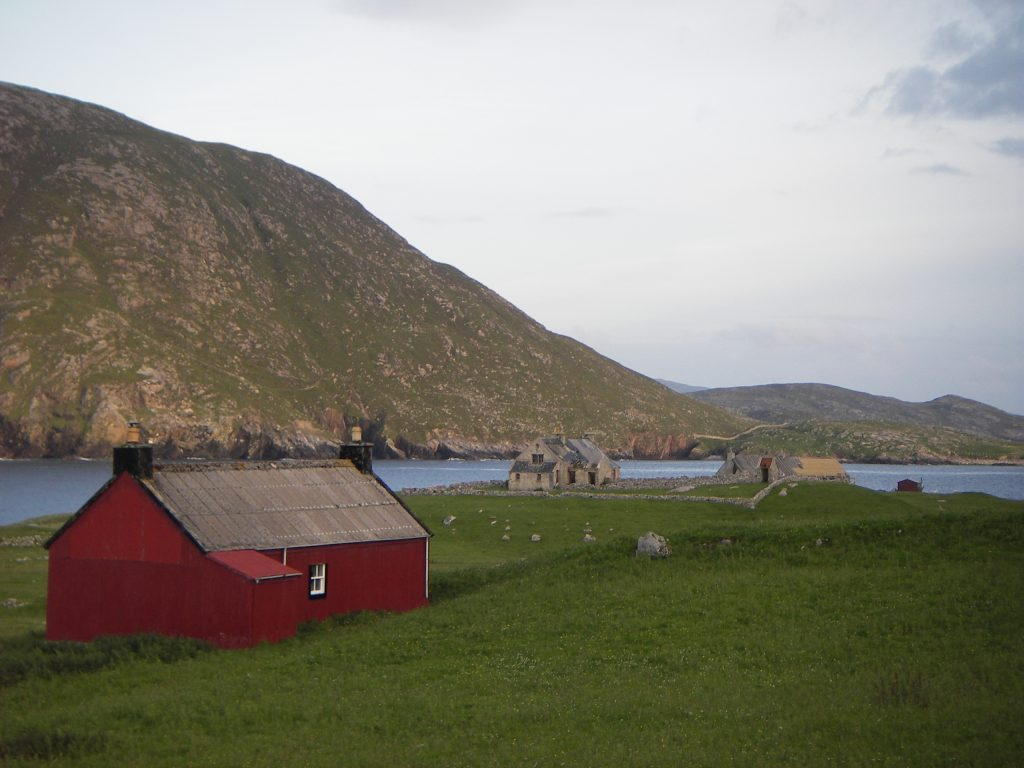 The red house on Scarp