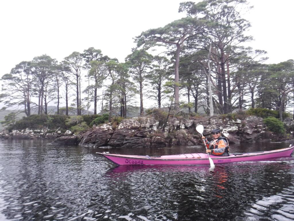 Charlotte Gannet paddling on Loch Maree