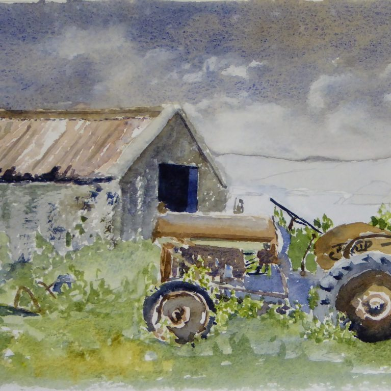 The old croft tractor on Iona